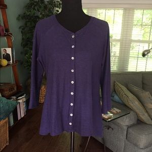 Cut Loose Navy button down tunic top.